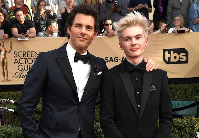James Marsden brought his son to the SAG Awards, and twin alert!
