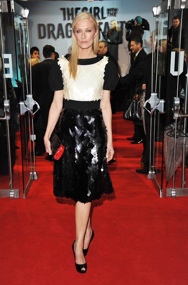 """Joely Richardson at the London premiere of <a href=""""http://movies.yahoo.com/movie/1810163569/info"""">The Girl With the Dragon Tattoo</a> on December 12, 2011."""