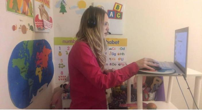 Adalee Raubenheimer has been teaching English as a Second Language from home for the past couple of years.