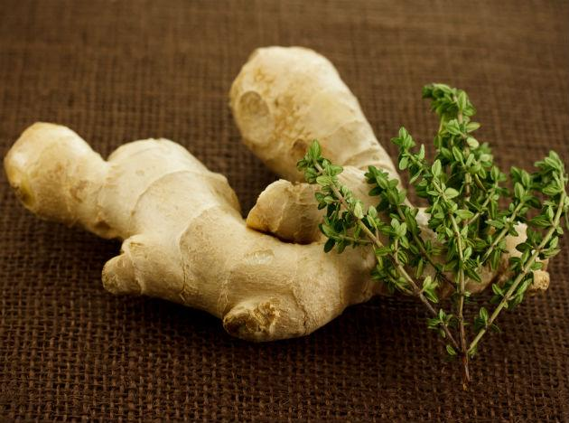 <b>Ginger</b>, perhaps most well-known for its digestive and decongestive properties, is widely used to relieve nausea and soothe an upset tummy, as well as to treat colds and allergies. So make sure you have your cup of adhrak chai daily!