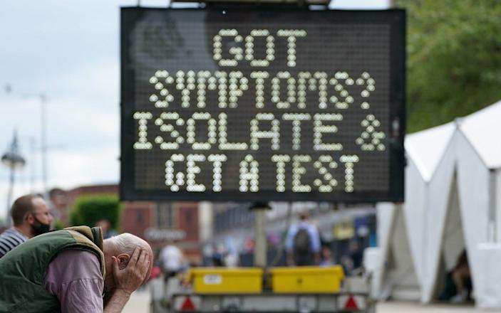 A mobile Covid-19 vaccination centre outside Bolton Town Hall, Bolton, where case numbers of the Delta variant first identified in India have been relatively high. Picture date: Wednesday June 9, 2021. PA Photo. See PA story HEALTH Coronavirus. Photo credit should read: Peter Byrne/PA Wire - Photo credit should read: Peter Byrne/PA Wire/Photo credit should read: Peter Byrne/PA Wire