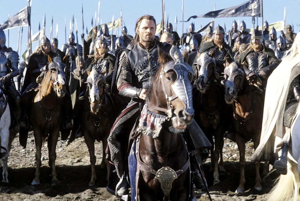 Viggo Mortensen as Middle-earth's newly returned king, Aragorn. (Photo: New Line/courtesy Everett Collection)