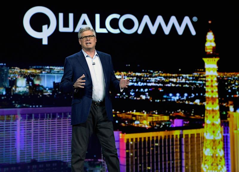 Qualcomm rose on report of ZTE deal, but gave back most of its gains