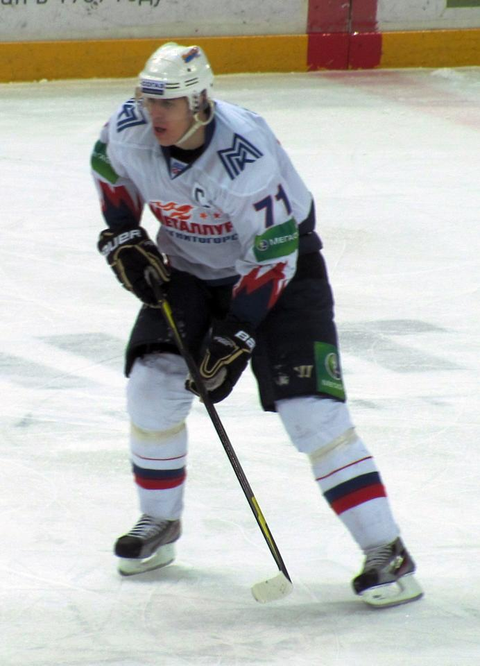 Metallurg Magnitogorsk's Evgeni Malkin in action. (#NickInEurope)