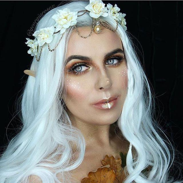 """<p>If you're feeling mischievous this Halloween, why not go as a pixie? The makeup's relative simple, and then just add pointed ears, a white wig and a flower crown and you can call it done.</p><p><a class=""""link rapid-noclick-resp"""" href=""""https://www.amazon.com/Sunrisee-Headband-Artificial-Adjustable-Festivals/dp/B075HTYQD8/ref=asc_df_B075HTYQD8/?tag=syn-yahoo-20&ascsubtag=%5Bartid%7C10050.g.34087783%5Bsrc%7Cyahoo-us"""" rel=""""nofollow noopener"""" target=""""_blank"""" data-ylk=""""slk:SHOP FLOWER CROWNS"""">SHOP FLOWER CROWNS</a></p><p><a href=""""https://www.instagram.com/p/Bam1mu1ALLN/?utm_source=ig_embed&utm_campaign=loading"""" rel=""""nofollow noopener"""" target=""""_blank"""" data-ylk=""""slk:See the original post on Instagram"""" class=""""link rapid-noclick-resp"""">See the original post on Instagram</a></p>"""