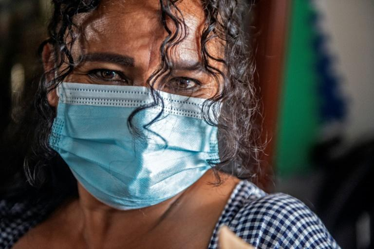 Nancy Sanchez, 48, poses for a picture at her home in Villa El Salvador, in the southern outskirts of Lima on March 03, 2021. She says she was sterilized without her consent after the birth of her last child