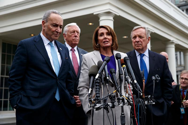 House Speaker Nancy Pelosi and Senate Minority Leader Chuck Schumer didn't have to do much heavy lifting to undercut Trump's Oval Office address. (ASSOCIATED PRESS)