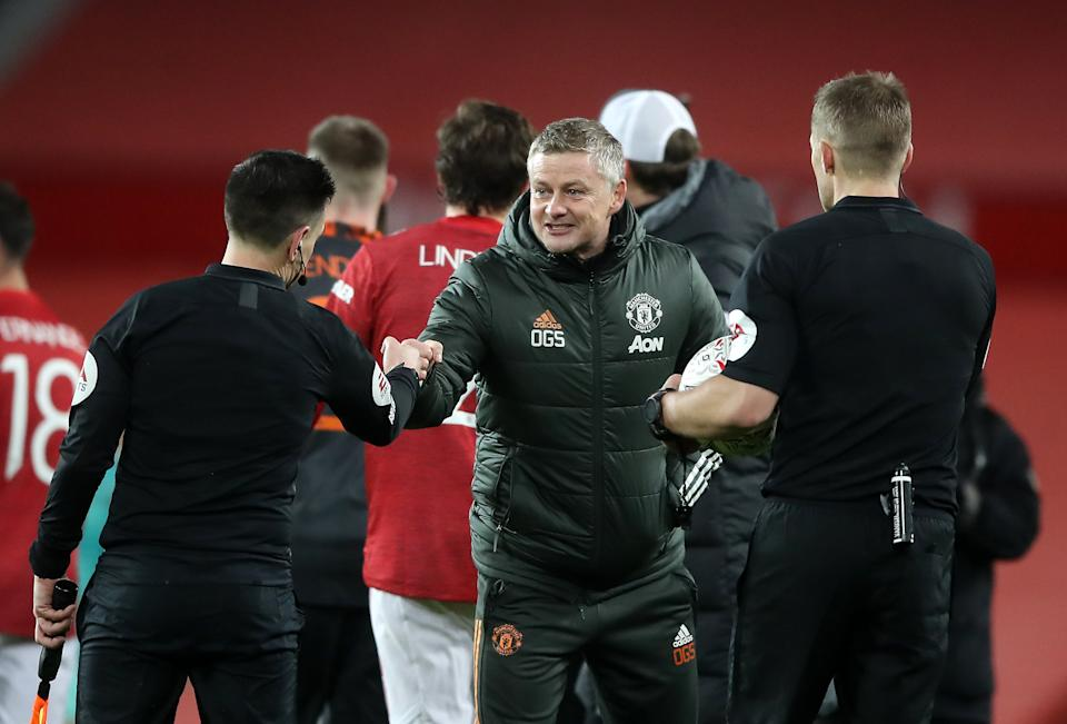 Ole Gunnar Solskjaer at full-time (Getty Images)
