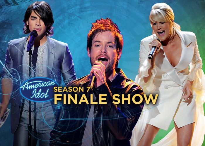 """Celebrities like Carrie Underwood, the Jonas Brothers, Seal, ZZ Top, and One Republic all turned out for the grand finale of <a href=""""/american-idol/show/34934"""">""""American Idol""""</a> Season 7, where David Cook won the title by a landslide."""