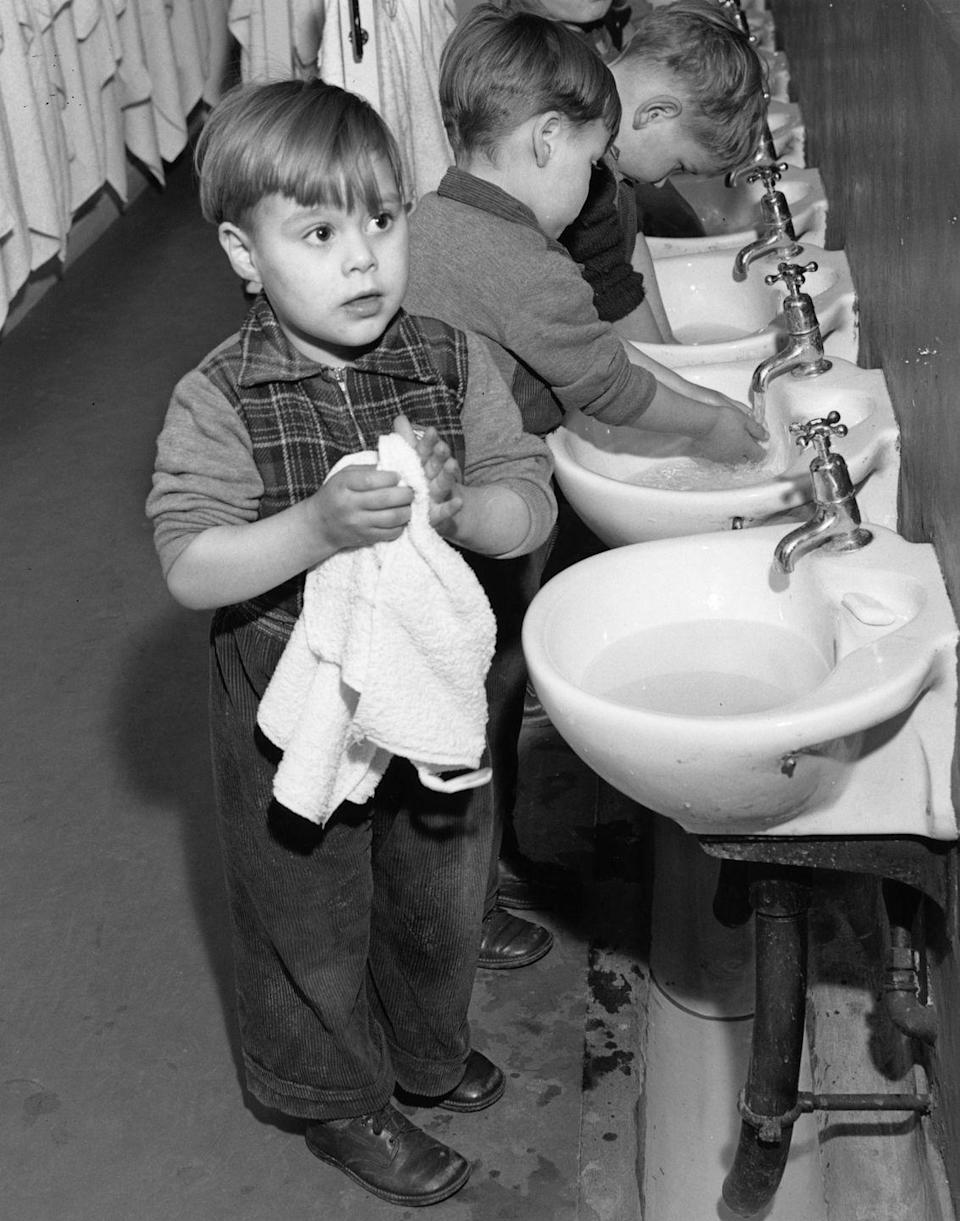 <p>Repeat (and then repeat again) until they learn to wash their hands and cover coughs without your nagging.<br></p>
