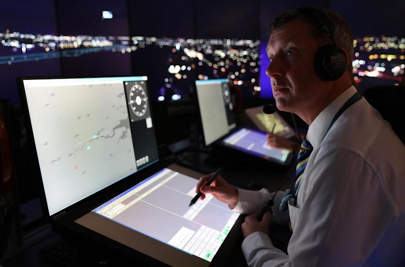 Aircrafts at London City Airport will be directed using the UK's first remote digital air traffic control tower (PA)
