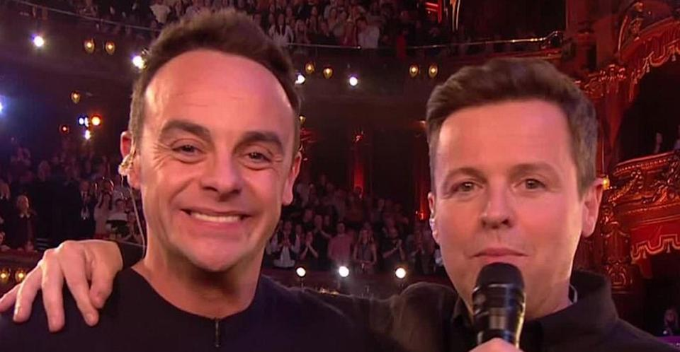 Ant & Dec accepting their 2019 National Television Award. (ITV)