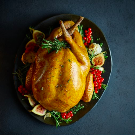 Tesco's 'Finest British free range bronze turkey medium' will feed up to 12 guests [Image: Tesco]