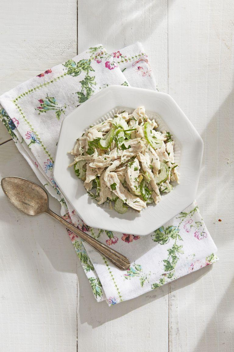 """<p>If you want to stick to the classics but add a little twist, this is a great option. It's got everything you love about chicken salad with a couple special ingredients.</p><p><strong><a href=""""https://www.countryliving.com/food-drinks/a30614424/updated-classic-chicken-salad-recipe/"""" rel=""""nofollow noopener"""" target=""""_blank"""" data-ylk=""""slk:Get the recipe"""" class=""""link rapid-noclick-resp"""">Get the recipe</a>.</strong></p><p><strong><a class=""""link rapid-noclick-resp"""" href=""""https://www.amazon.com/Napkins-100-Cotton-size-Inch/dp/B07DL32QJ4/?tag=syn-yahoo-20&ascsubtag=%5Bartid%7C10050.g.1642%5Bsrc%7Cyahoo-us"""" rel=""""nofollow noopener"""" target=""""_blank"""" data-ylk=""""slk:SHOP CLOTH NAPKINS"""">SHOP CLOTH NAPKINS</a></strong> </p>"""