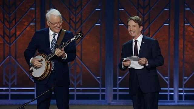 Steve Martin and Martin Short's new Netflix special is a welcome showbiz throwback. (Photo: Netflix)