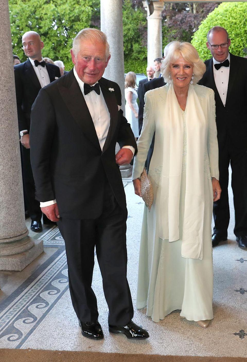 <p>The Duchess of Cornwall looked lovely in a white gown during a dinner to celebrate U.K./Ireland relations in Dublin. </p>