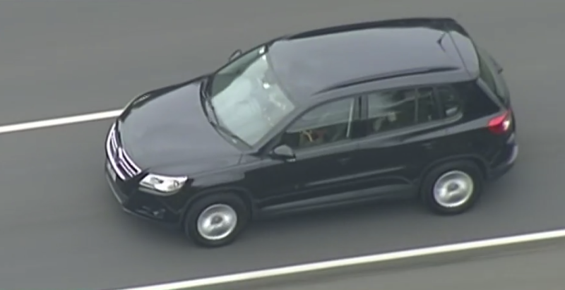 George Pell left prison shortly after midday in a black SUV. Source: ABC