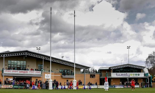 """<span class=""""element-image__caption"""">Doncaster Knights made contingency plans to play away from their Castle Park stadium if they won promotion last season but now prefer to compete at the top end of the Championship.</span> <span class=""""element-image__credit"""">Photograph: JMP/Rex/Shutterstock</span>"""