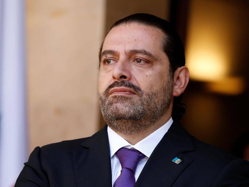 Mr Hariri arrived in a private jet from Cyprus on Tuesday night after meeting with Cypriot President Nicos Anastasiades: Reuters