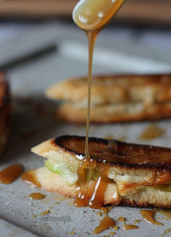 """<p>Drizzle caramel all over this fruity grilled cheese for extra gooey goodness.</p><p>Get the recipe from <a href=""""http://cookiesandcups.com/brie-and-apple-grilled-cheese/?utm_source=feedburner&utm_medium=feed&utm_campaign=Feed:+cookiesandcups+(cookies+and+cups)"""" rel=""""nofollow noopener"""" target=""""_blank"""" data-ylk=""""slk:Cookies and Cups"""" class=""""link rapid-noclick-resp"""">Cookies and Cups</a>.</p>"""