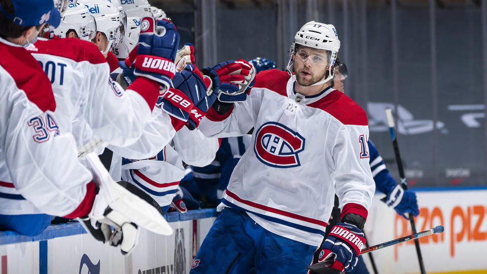 Josh Anderson was a force in his debut with the Montreal Canadiens. (Photo by Mark Blinch/NHLI via Getty Images)