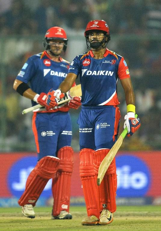 <p>Delhi Daredevils Shreyas Iyer walks back to pavilion after his dismissal during the 2017 Indian Premier League (IPL) Twenty20 cricket match between Delhi Daredevils and Sunrisers Hyderabad at The Feroz Shah Kotla Cricket Stadium in New Delhi on May 2, 2017. ——IMAGE RESTRICTED TO EDITORIAL USE – STRICTLY NO COMMERCIAL USE—– / GETTYOUT—— / AFP PHOTO / CHANDAN KHANNA / —-IMAGE RESTRICTED TO EDITORIAL USE – STRICTLY NO COMMERCIAL USE—– / GETTYOUT </p>