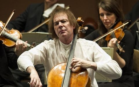 Julian Lloyd Webber performs during his last ever show with The English Chamber Orchestra in May 2014
