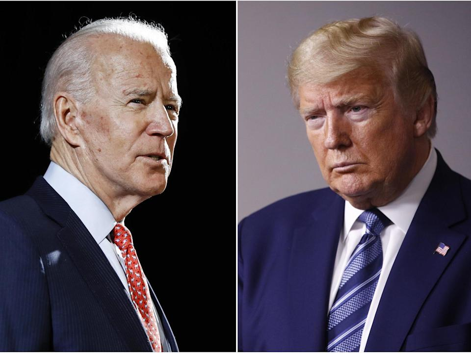 Biden and Trump will face the people on November 3 (AP)