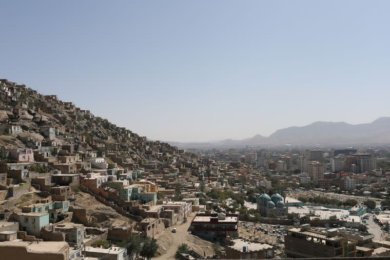 General view of the city of Kabul