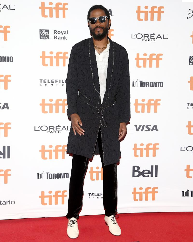 You're allowed to wear a robe on the red carpet when it looks like Lakeith Stanfield's.