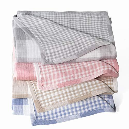"""<h3>Buffalo Check Cotton-Muslin Blanket</h3><br>Hop on the checkered-pastel-trend train with one of these very soft cotton-muslin blankets. <br><br><strong>StyleChic</strong> Cotton Muslin Throw Blanket With Buffalo Check Pattern, $, available at <a href=""""https://amzn.to/2NKjnQD"""" rel=""""nofollow noopener"""" target=""""_blank"""" data-ylk=""""slk:Amazon"""" class=""""link rapid-noclick-resp"""">Amazon</a>"""