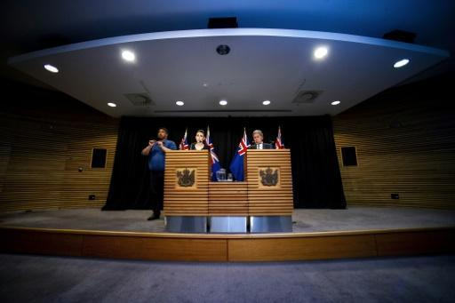 New Zealand Prime Minister Jacinda Ardern and Deputy Prime Minister Winston Peters speak to the media after the cabinet agreed measures to tighten gun control laws