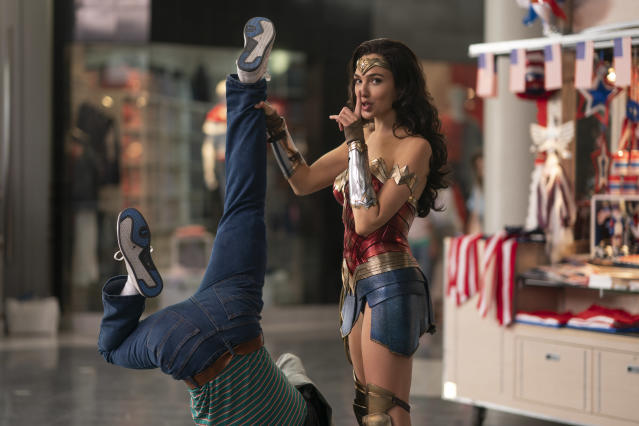"GAL GADOT as Wonder Woman in Warner Bros. Pictures' action adventure ""WONDER WOMAN 1984,"" a Warner Bros. Pictures release. (© 2018 Warner Bros. Entertainment Inc.)"