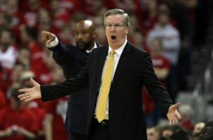 Iowa's Fran McCaffery reacts to a call during a loss. (USAT)