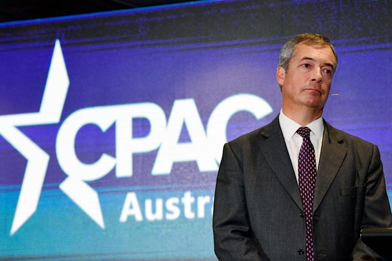 Mr Farage blasted the royals in an outspoken speech in Sydney (EPA)