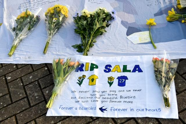 Fans paid tribute to Emiliano Sala at the Cardiff City Stadium on the anniversary of his death