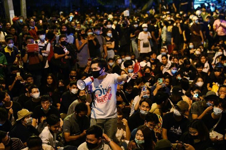 A dozen Thai pro-democracy student activists have been charged with royal defamation over a rally outside the German embassy last year