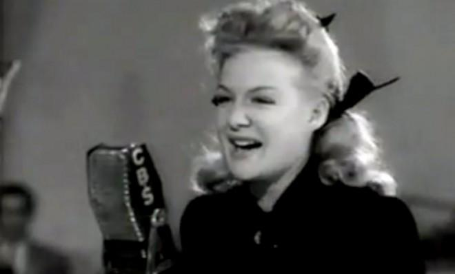 Betty Hutton is certainly in the groove.