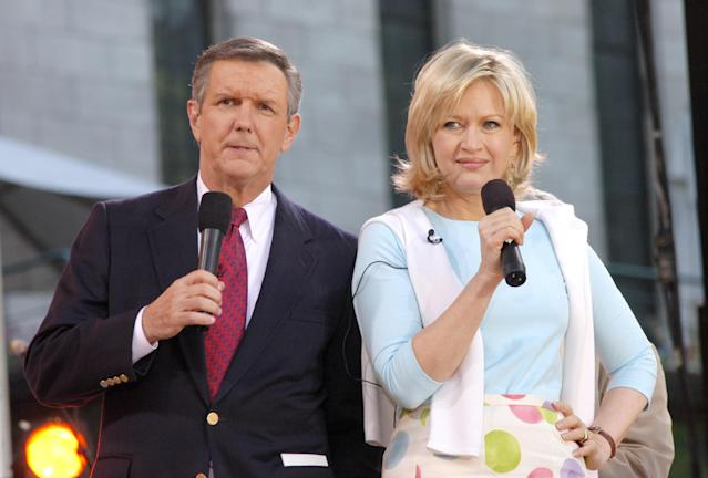 "Charlie Gibson and Diane Sawyer were long-standing co-anchors of ""Good Morning America."" (Photo: Getty Images)"