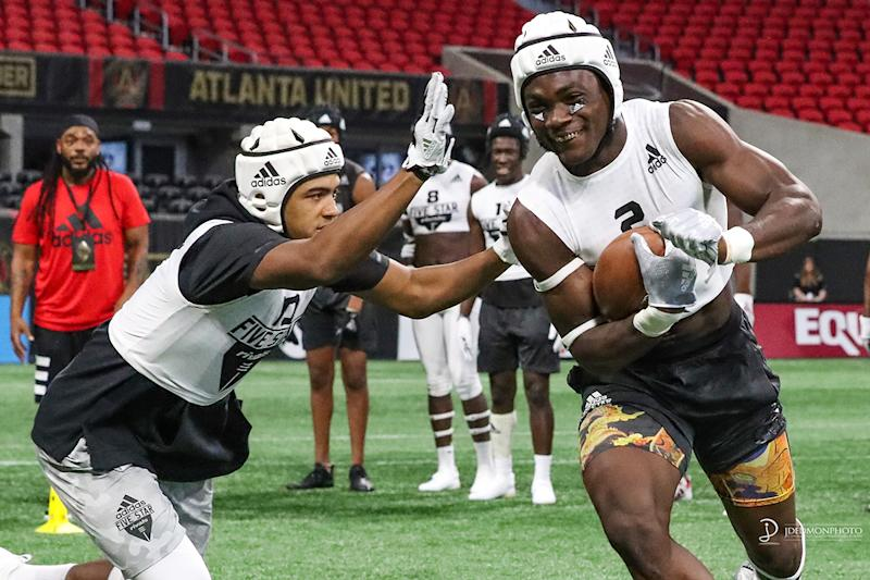 RC Experiences produces the Rivals Camp Series, featuring the Rivals adizero Combines, a national series of regional camps and NFL-style combines attracting the country's best high school football players. Credit: Jim Dedmon
