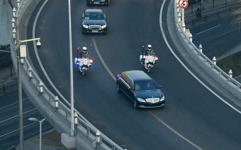 Roads in Beijing have been cleared for Kim Jong-un's motorcade - Credit: AFP