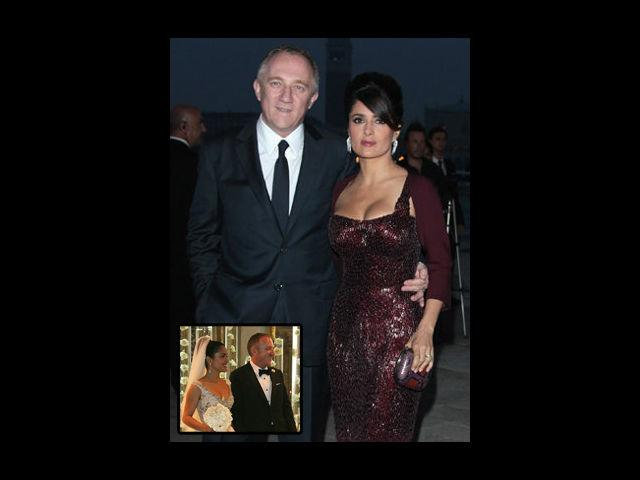 <b>Salma Hayek-Francois Henry Pinnault </b> <br>The voluptuous latina girl eulogized their love by getting married to her billionaire French beau on none other than the V-Day in 2009. Although the main event held in Paris, was kept low-profile, it was soon followed by a grand reception with the who's who of Hollywood bedecking the guest list. Such is the couple's obsession with the day that they have named their daughter Valentina.