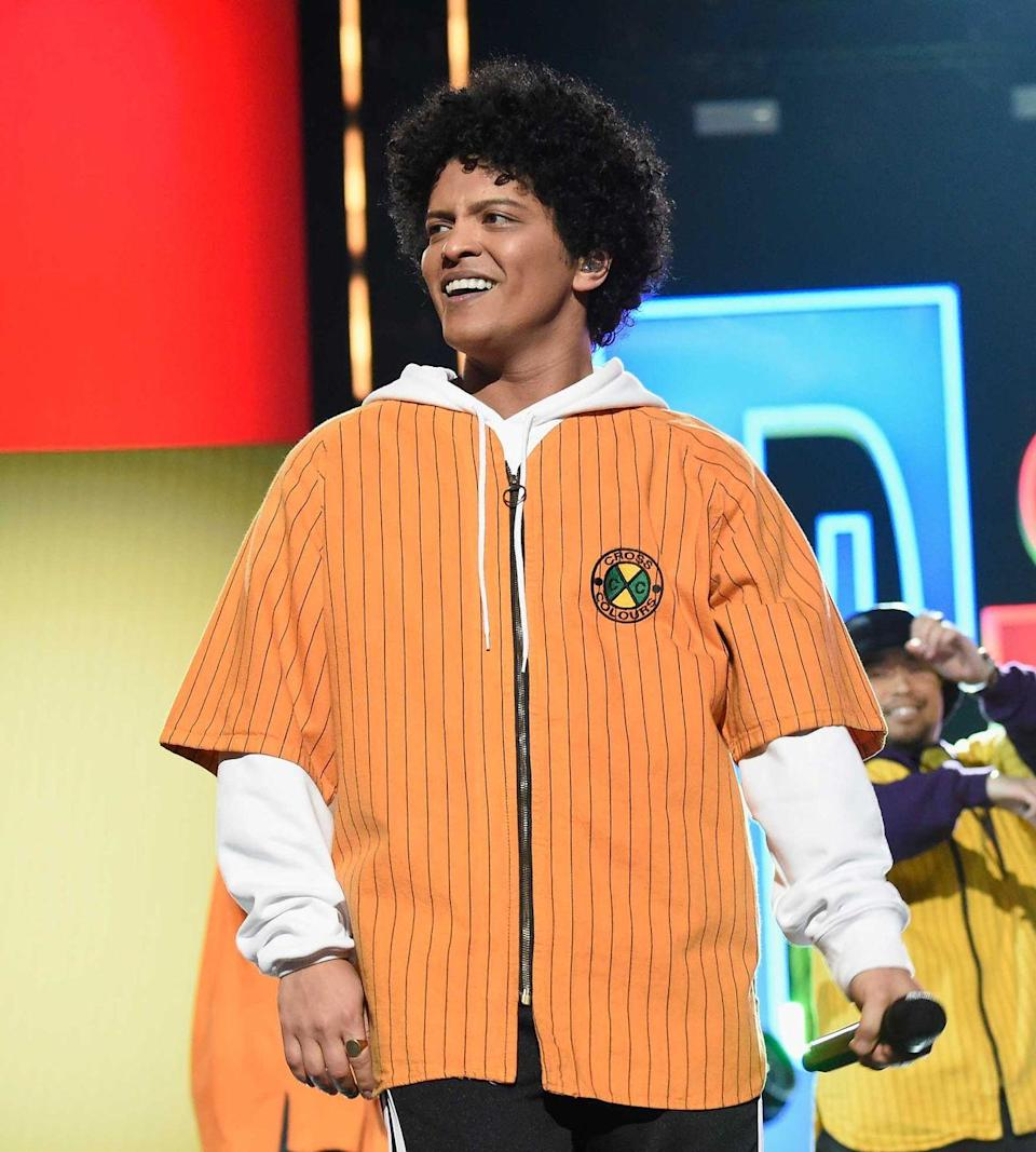 """<p>From the Super Bowl to taking home seven Grammys in 2018 for his album <em>24K Magic</em>, Bruno Mars has quickly hit icon status—and so has, wait for it, his songwriting. Of course. Let's get to it:</p><p><strong>""""Forget You"""" by Cee Lo Green (2010): </strong>With distant characteristics of Bruno Mars' own music, it's not <em>sooo</em> far fetched he was attached to this hit.<strong><br></strong></p><p><strong>""""All I Ask"""" by Adele (2015): </strong>No one could have seen this collaboration coming—it's the most heart-wrenching song on Adele's <em>25</em>. In 2016 Mars covered the song at BBC Radio's Live Lounge saying """"the next song I'm about to do for y'all is a song that means a lot to me.""""<strong><br></strong></p>"""