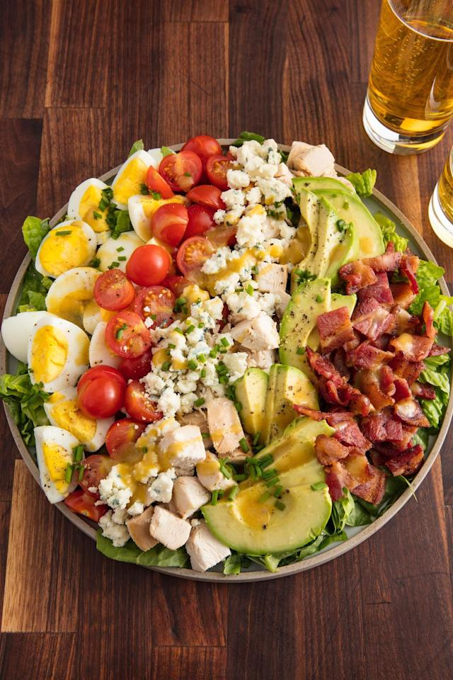 "<p>The salad to rule all salads.</p><p>Get the recipe from <a href=""https://www.delish.com/cooking/recipe-ideas/recipes/a58703/best-cobb-salad-recipe/"" target=""_blank"">Delish</a>.</p><p><a class=""body-btn-link"" href=""https://www.amazon.com/Wusthof-Classic-8-Inch-Chefs-Knife/dp/B00009ZK08/"" target=""_blank"">BUY NOW</a> <strong><em>Wusthof Chef's Knife, $95, amazon.com</em></strong></p>"