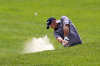 Brendon de Jonge hits from a bunker during the first round of the 3M Open golf tournament in Blaine, Minn., Thursday, July 23, 2020. (AP Photo/Andy Clayton- King)