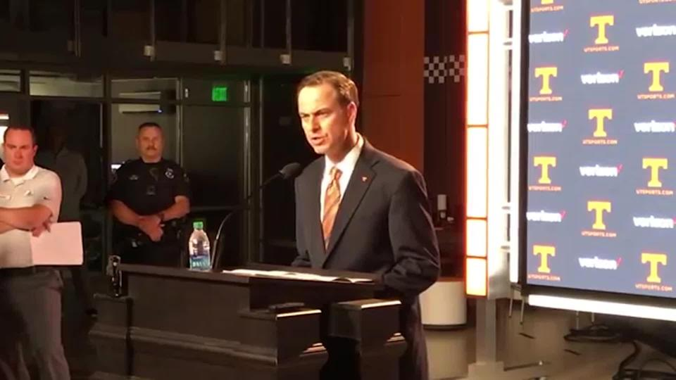 John Currie came to Tennessee earlier this year. (CBS Sports)