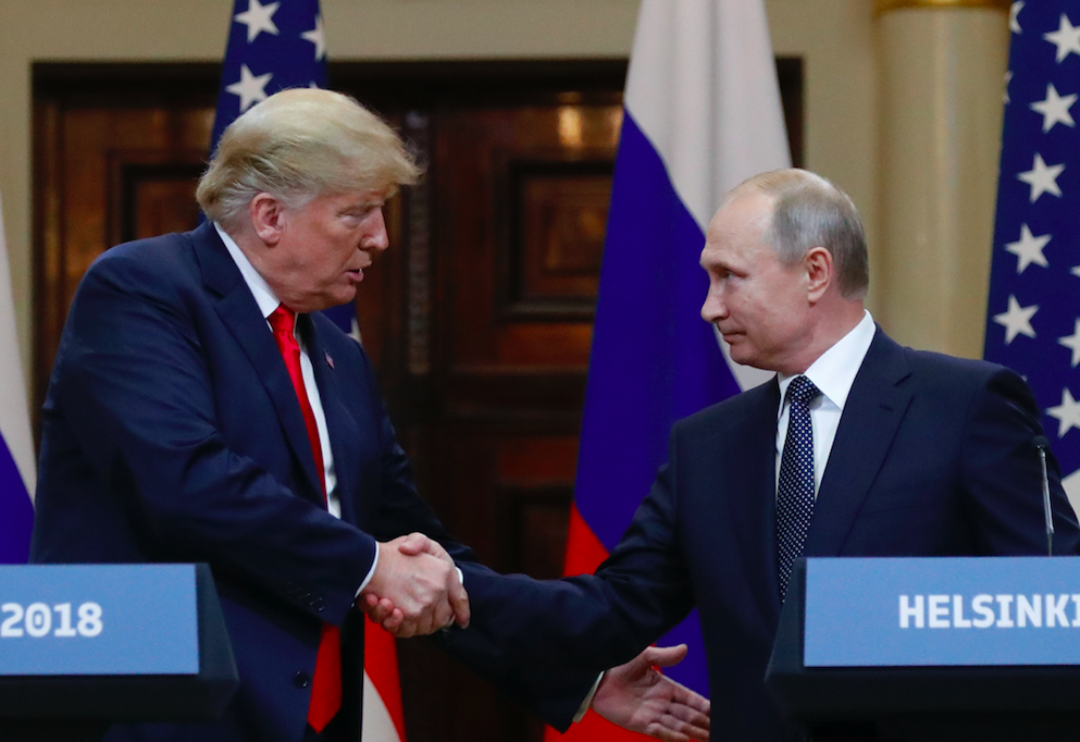 <em>Trump steered clear of any confrontation with Russian president Vladimir Putin (PA)</em>