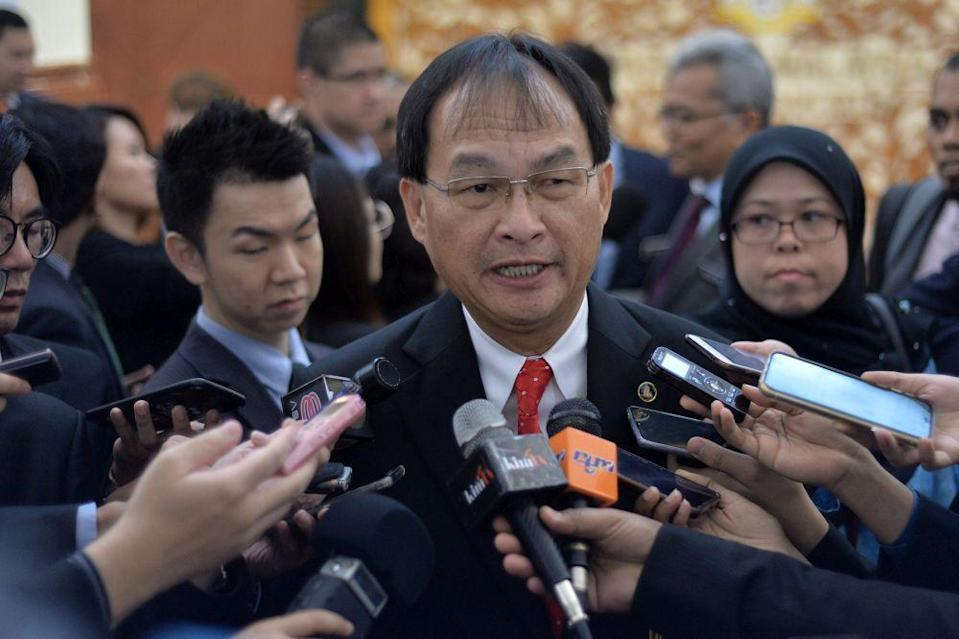 PKR Sarawak chapter chairman Baru Bian was criticised for postponing its convention over the issue of the invitation of the party deputy president. ― File picture by Mukhriz Hazim s