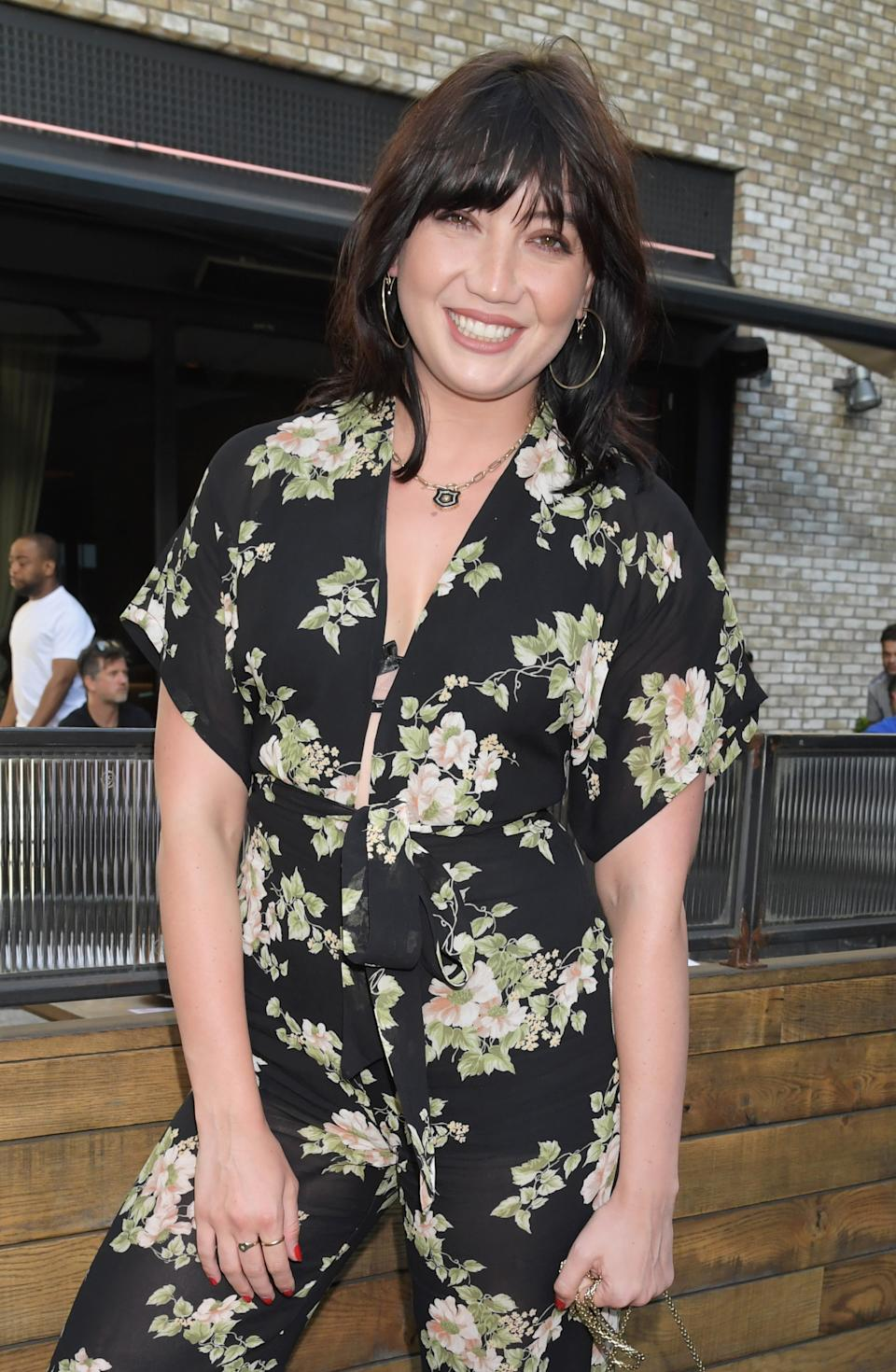 LONDON, ENGLAND - JULY 17:  Daisy Lowe attends the launch of Giz & Green Pizza Pies Pop-Up at Passo on July 17, 2020 in London, England. (Photo by David M. Benett/Dave Benett/Getty Images for PASSO)