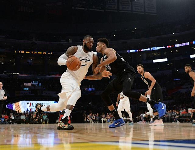 "<p>LeBron James dominated All-Star Weekend in his 15th season, dropping knowledge off the court and taking home hardware at the big game. After a long weekend in Los Angeles, Andrew Sharp and Ben Golliver gathered on the <a href=""https://itunes.apple.com/us/podcast/open-floor-sis-nba-show/id1050847009?mt=2"" rel=""nofollow noopener"" target=""_blank"" data-ylk=""slk:latest episode of the Open Floor podcast"" class=""link rapid-noclick-resp"">latest episode of the Open Floor podcast</a> to discuss the improved All-Star Game, LeBron's latest milestone and Stephen Curry's voting process. </p><p><a href=""https://itunes.apple.com/us/podcast/open-floor-sis-nba-show/id1050847009?mt=2"" rel=""nofollow noopener"" target=""_blank"" data-ylk=""slk:Check out the full episode here and subscribe to the podcast on iTunes"" class=""link rapid-noclick-resp"">Check out the full episode here and subscribe to the podcast on iTunes</a>. (The following transcript has been edited and condensed for clarity).</p><p><strong>Ben Golliver:</strong> We had some pretty extended, ongoing debates about the All-Star teams, Team LeBron, Team Steph and we all saw what happened on the court tonight. So do you want to run down what happened? Or maybe I should do that? </p><p><strong>Andrew Sharp:</strong> You're patting yourself on the back. You're congratulating yourself for your class, and I almost responded to somebody on Twitter who was wondering why you weren't gloating more. And I said, 'Look, Ben is a follower of the Spurs' way. It's not in his nature to gloat.' But I want you to know that I'm also taking the high road here. If we're really breaking down the game, if we really want to take it seriously, Team Steph was by far the superior squad but for one detail. Did you happen to notice James Harden's entry in the box score? </p><p><strong>Golliver: </strong>You're not going to do this. You're not going to pin the whole thing on Harden. First of all, you said the best GM was Steph. He picked this underrated, amazing roster full of three-point shooters, and for a decent amount of the game that looked like the way it was going to go. Unfortunately, team-wide collapse in the fourth quarter, Steph Curry nowhere to be found, and I think really what you saw was talent winning out, right? The two best players in the league, Kevin Durant and LeBron James, they just took over and they got serious.</p><p>And on the crucial possession of the game, Stephen curry got lost like a 4-year-old in a sleeping bag. He had no daylight, he didn't know where he was, he couldn't get a shot off. As Kevin Durant said, it spoiled their whole possession. They couldn't even bail out to a guy in the corner. So right now what I'm saying is you can't scapegoat James Harden in this situation, because not only did Curry pick Harden for his team, but he was also the guy with the ball in his hands with the game in his hands. </p><p><strong>Sharp:</strong> On the last possession, Stephen Curry, the second-best player in the world, was blanketed by the best player in the world, LeBron James, and the third-best player in the world, Kevin Durant. I'm not going to kill him too much for failing to get a shot off. I will grant you that Steph's greatest mistake was putting his faith in Harden, and I have good friends of mind who have made the same mistake in the past year. So I can't really blame him, I don't want to crush him for that. But 5-of-19, 2-of-13 from three-point, it was a rough night for our guy James Harden. </p><p><strong>Golliver:</strong> I think you're doing too much. You're doing way too much here. Let's give credit where it's due. LeBron was sensational down the stretch when he wanted to be. When they come out and they have that quick bang-bang-bang pass play with all the motion to set up the hoop for him, that was awesome. The rolling back to his left three-pointer than you still don't want him to shoot because he's not that good of a three-pointer shooter, and yet when he needs to hit that deep look over Embiid he drains it. On the clutch possession, I was right there with him. I was in the huddle saying foul up three like the biggest nerd of all-time at an All-Star Game. And LeBron said trust that we can get a stop. LeBron is a thinker, he knew Curry's tendency, he knew Curry was going to want to over dribble and try to find a window to get a shot off and LeBron and Durant were right there to shut him down when they needed to. From that standpoint, as a backer of Team LeBron, it's just really nice to be on this side of the result. </p><p><strong>Sharp:</strong> You make an interesting point, because I was watching and thinking the exact same thing. The All-Star Game is more competitive than it's been in years, and we'll really know it's real if they start intentional fouling down the stretch, and we were very, very close. So apart from our internal bickering and our ongoing feud, I had a lot of fun watch that game. I'm not sure how it translated on television, and I haven't checked Twitter reactions, but I really feel like the new format and whatever changed worked—whether it was putting up money for the players, whether it was putting pride on the line for someone like LeBron, who looked like he really set the tone for everybody. This was a lot more fun than I expected, and that's partly because I came in with rock-bottom expectations, but I think it's a win for the league. </p><p><strong>Golliver: </strong>?During that first quarter, it started pretty slow and it was pretty dead in the building and I was starting to regret the three straight 'Where are all the defense' columns that I've written. They were kind of playing defense, they were playing harder and they were not giving up the free blow-by layups and the wide open dunks. I was thinking, 'Oh, no, did we just suck all the fun out of this game? Now it's going to turn into a rock fest.'</p><p><strong>Sharp:</strong> That was the funniest part, because people adjusted on defense but no one really adjusted the offense. They were still trying to throw passes off the backboard and do all the crazy All-Star s--- they always did. But everybody kind of fell into a rhythm after that first quarter, and my No. 1 takeaway was that I was blown away by LeBron still doing this at 33 years old. And in basketball years, he's probably like 35 or 36 because he's paying nine months per year every single season. A guy is not supposed to be on the throne for this long, and he should've passed the torch to someone like KD and Steph is in the mix and Giannis is coming up. Next to all those guys, LeBron was on another level the entire time. </p><p><strong>Golliver:</strong> Couple thoughts: First of all, his third MVP at the All-Star Game, he's now one of six players to get three. The amazing stat backing up what you just said—it's been a decade since he won his last one. And I was spending a good portion of the second quarter trying to figure out how many guys have won All-Star MVP at an older age than LeBron. I came up with Shaquille O'Neal when he got that fake shared MVP with Kobe Bryant and then I came up with Michael Jordan. I don't know if there are others. It's a very short list already, and LeBron could have another MVP in him three years down the line. </p><p>The second thing you said, it's a win in general because of how exciting this game is compared to previous games. Couple statistical notes for perspective here: This year there were 293 points scored. That is down from 374 last year. So we're talking about basically 81 points fewer than last year in a one-year correction, so clearly something changed. And I think there's a debate about what changed, though. Was it the money like you said, was it mixing up the teams so the Western Conference's more talented roster was spread out, forcing the game to be tighter, or was it the players kind of looking themselves in the mirror and realizing that things have gotten completely out of hand.</p><p>Personally, I believe it was the last one, and you heard Dwane Casey allude to it. They wanted to change the narrative that no one cares about the All-Star Game, you heard KD repeat that mantra, you heard LeBron say something along those lines. I think that's a complicated way of saying, 'Look, we got sick of how ugly the All-Star Game was these last couple years, we just decided to play hard again. And I put up a tweet if people want to look at it in terms of how many points have been scored in the last 10 All-Star Games, and what you see is it really was basically a two-year blip. Basically Toronto and New Orleans were out of control. Everyone decided not to try at all those two years. The rest of them were more reasonable. I think for whatever reason, they had the right powwow. Everybody decided to have pride against this year for the first after basically taking the last two off, and that was the difference.</p>"